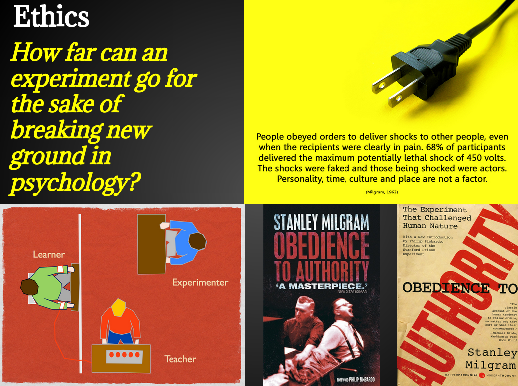 """an overview of the milgram experiment 28, 2013, i was surprised to hear a review on national public radio by leonard  lopate of gina perry's book on stanley milgram's """"obedience"""" experiment."""