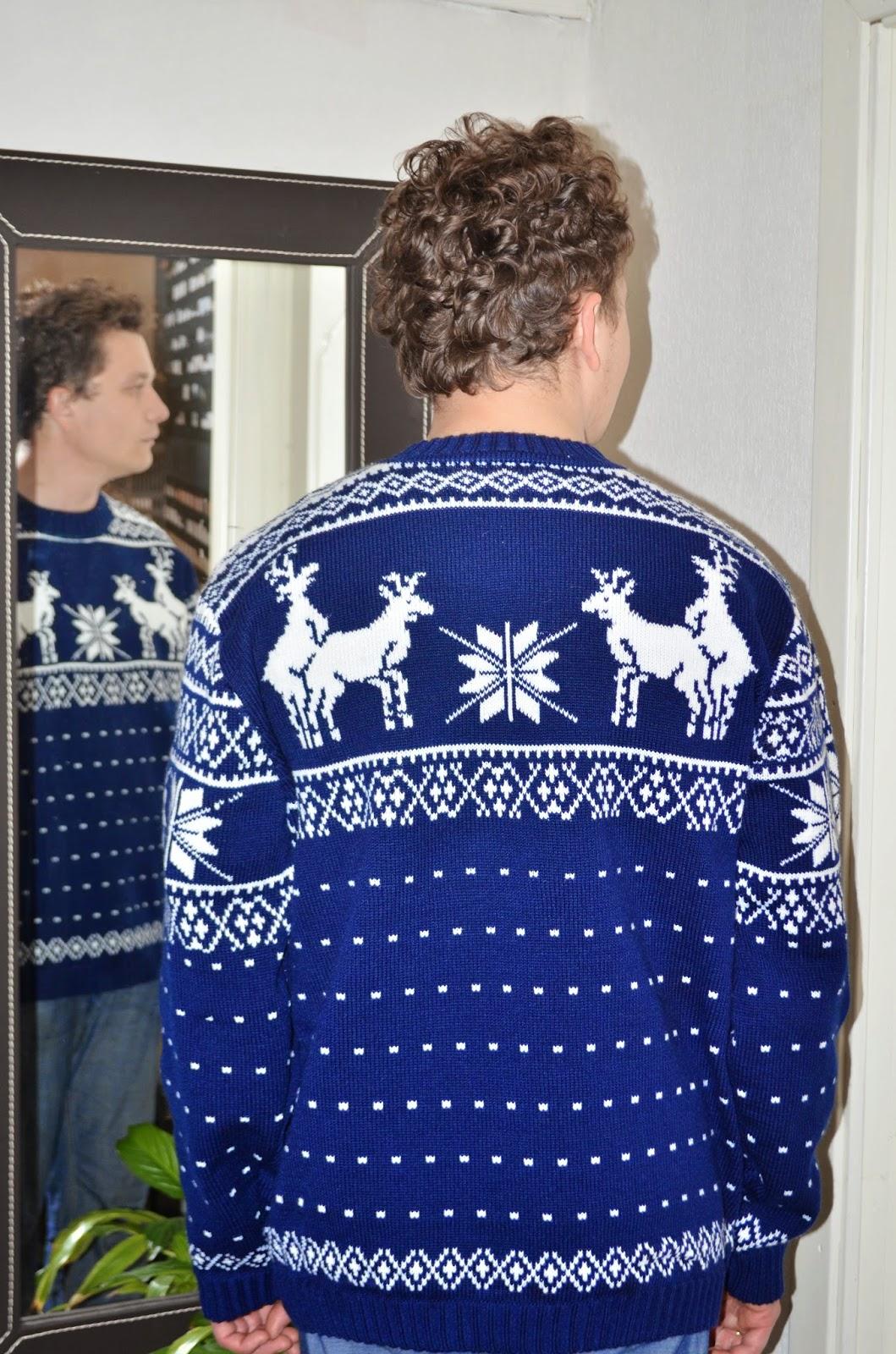 свитер с трахающимися оленями схема вязания