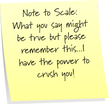 Scale Sticky Note Saturday
