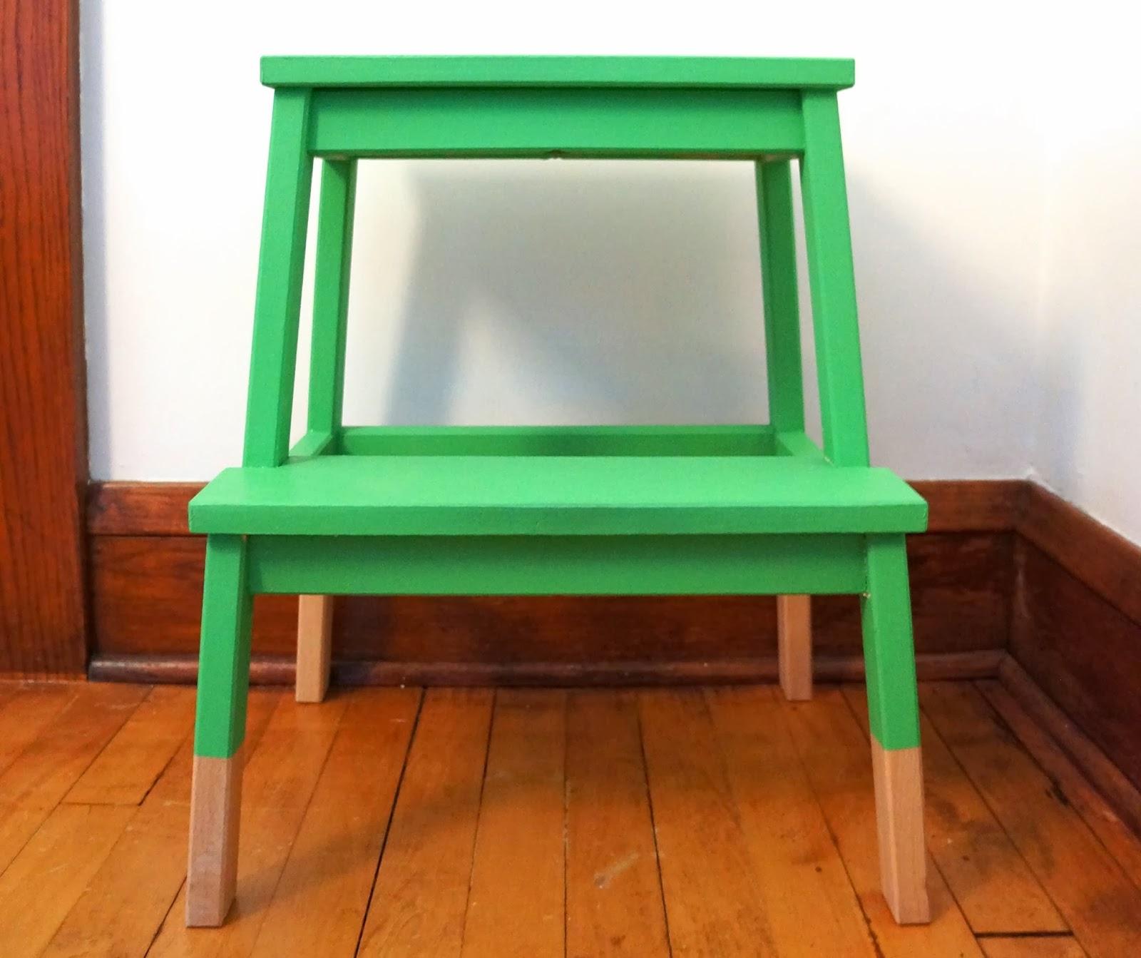 oakland avenue laura wifler diy dipped ikea bekvam step stool hack