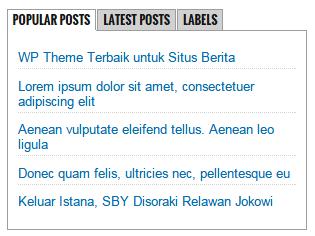 Cara Membuat Tabbed Content di Sidebar Blog