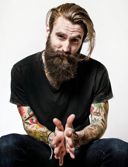ricki hall tattoo beard