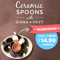 Clay spoons with Diana Fayt