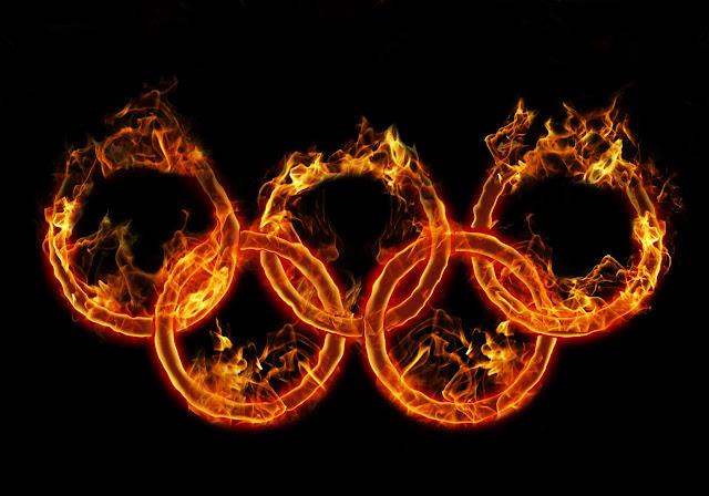 De olympiske ringe, brændende