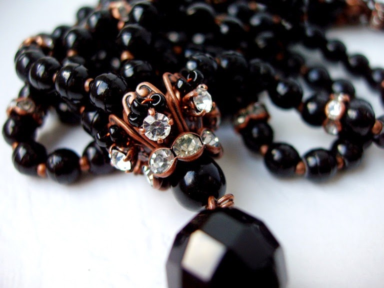 antique Prosser beads from Briare Franche Black jewelry Mourning Jet Victorian