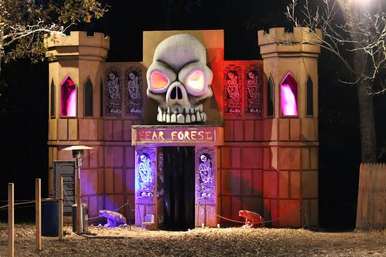 The entrance to Fear Forest in Harrisonburg, Virginia