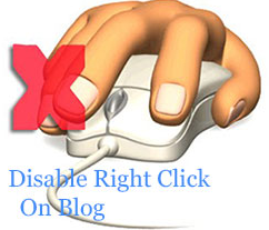 How to disable mouse right click function in Blogspot / Blogger
