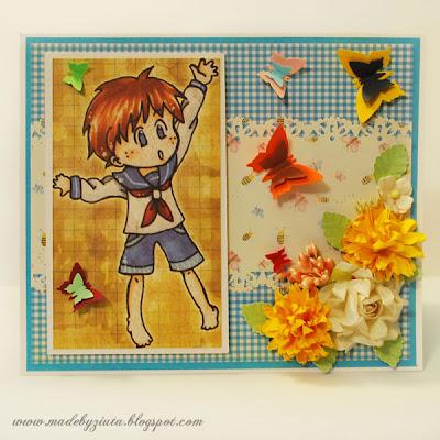 kartki okolicznościowe kartka na roczek kartka urodzinowa dla chłopczyka barbara wójcik