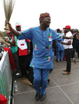 OMG!! Check Out Picture Of Fashola Dancing During A Campaign Rally