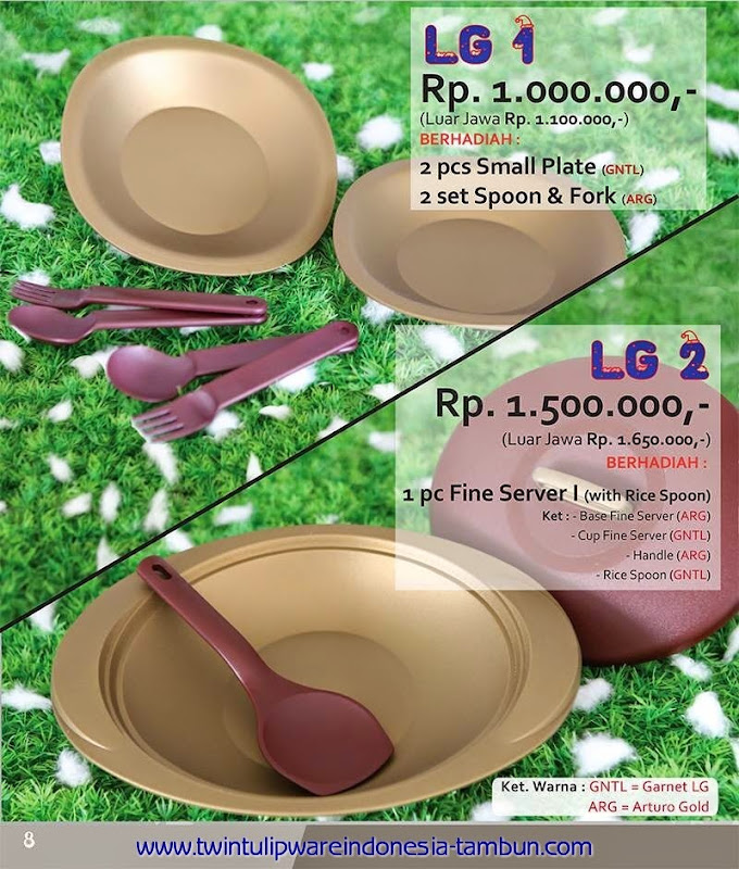 Level Gift - LG Tulipware Tupperware November - Desember 2014