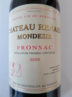 Château Renard Mondesir 2009 - AC Fronsac, Bordeaux, France (89 pts)