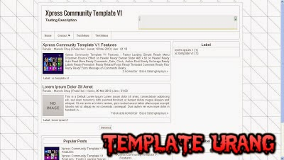Template X-Press Blogger SEO Friendly Terbaru