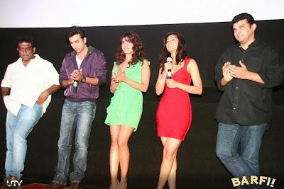 Barfi! Trailer Launch Images Featuring Hot Ranbir Kapoor, Priyanka Chopra, Ileana D'Cruz