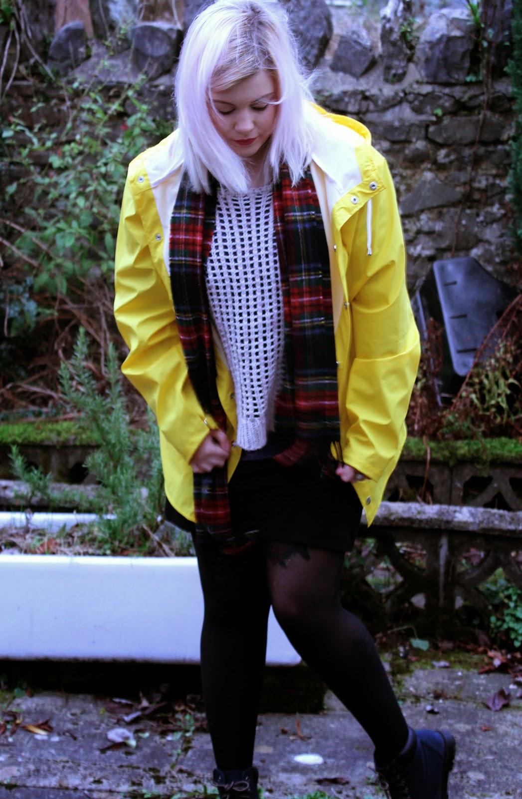 rains raincoat mac yellow