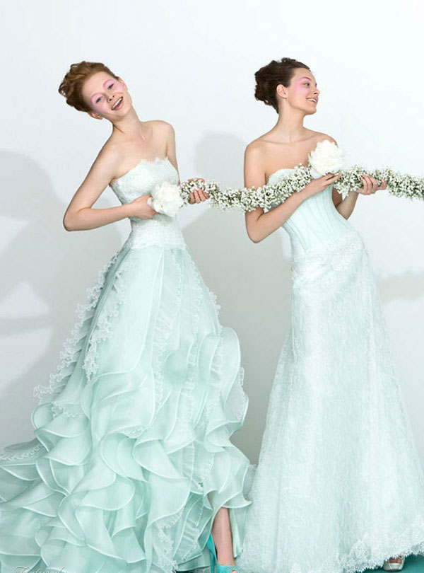 blue Wedding Dresses 2013 From Atelier Aimée