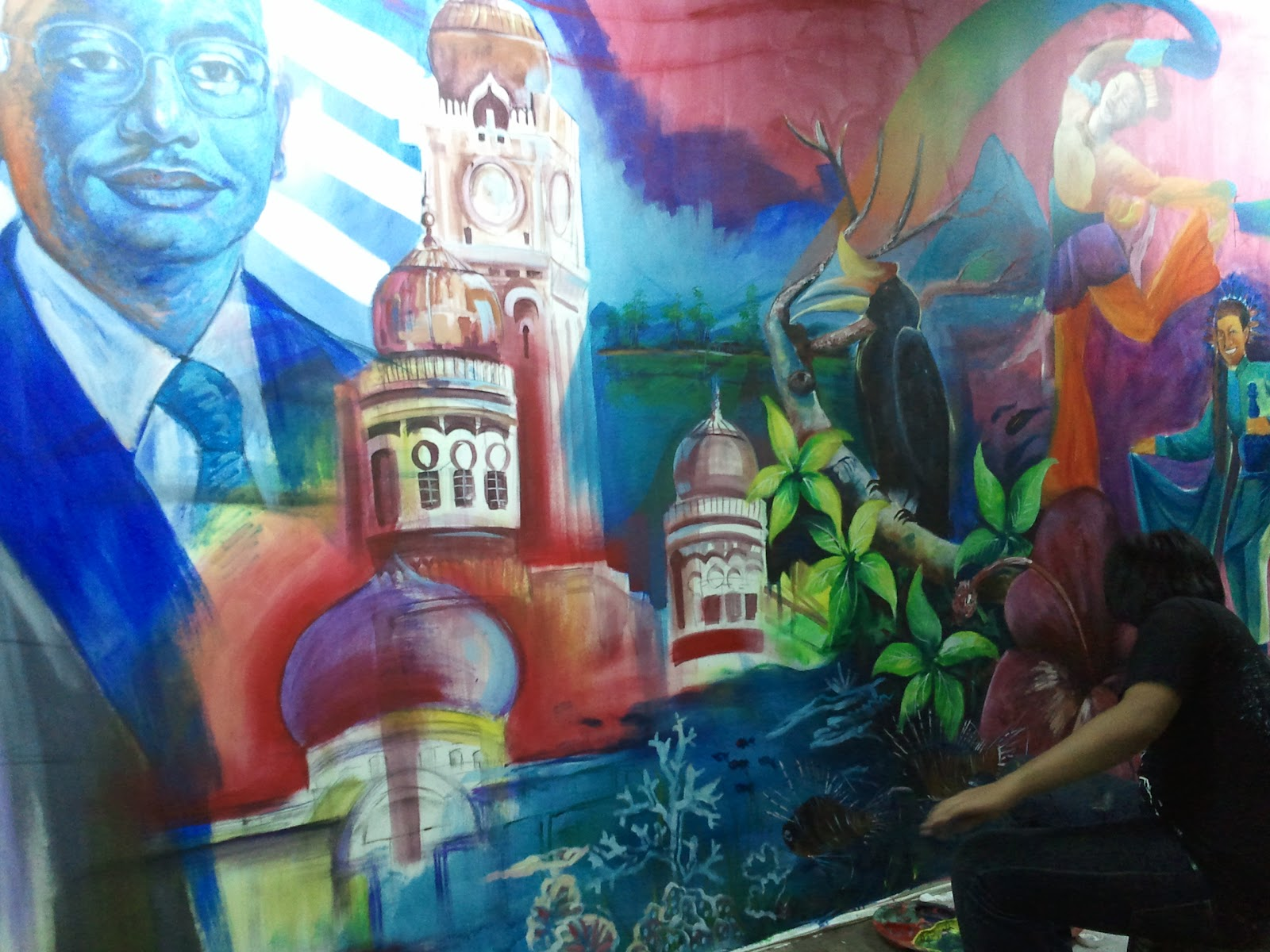 aku lukisan mural 1 malaysia ketengahkan bakat para