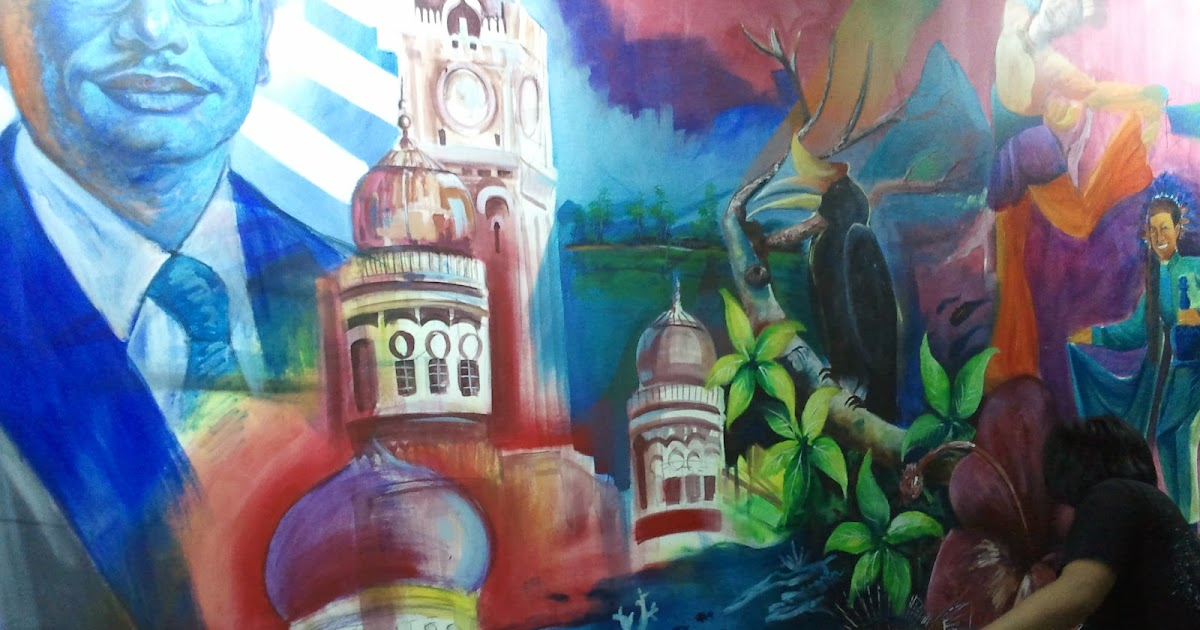 Aku lukisan mural 1 malaysia ketengahkan bakat para for Mural 1 malaysia