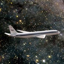 Aircraft flying through space