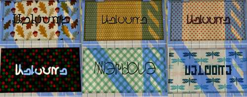My Sims 4 Blog Simlish Welcome Mats By SigmundSims