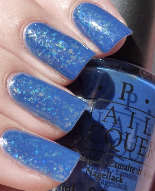 Dating A Royal, OPI Jelly Sandwich with Shine of the Times and Last Friday Night