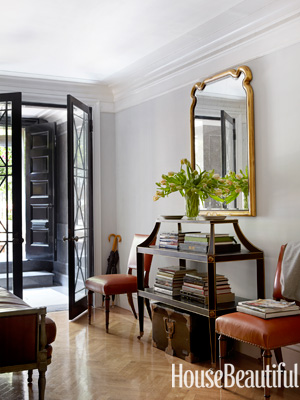 house beautiful traditional gray foyer design