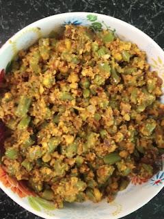 french beans stir fry,Green Beans Palya with Lentils,Hurlikayi Matodi Palya