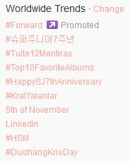 Super Junior 7th Anniversary Trending Topic
