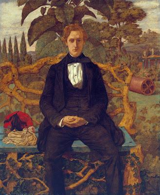 Richard Dadd - portrait of a youn man