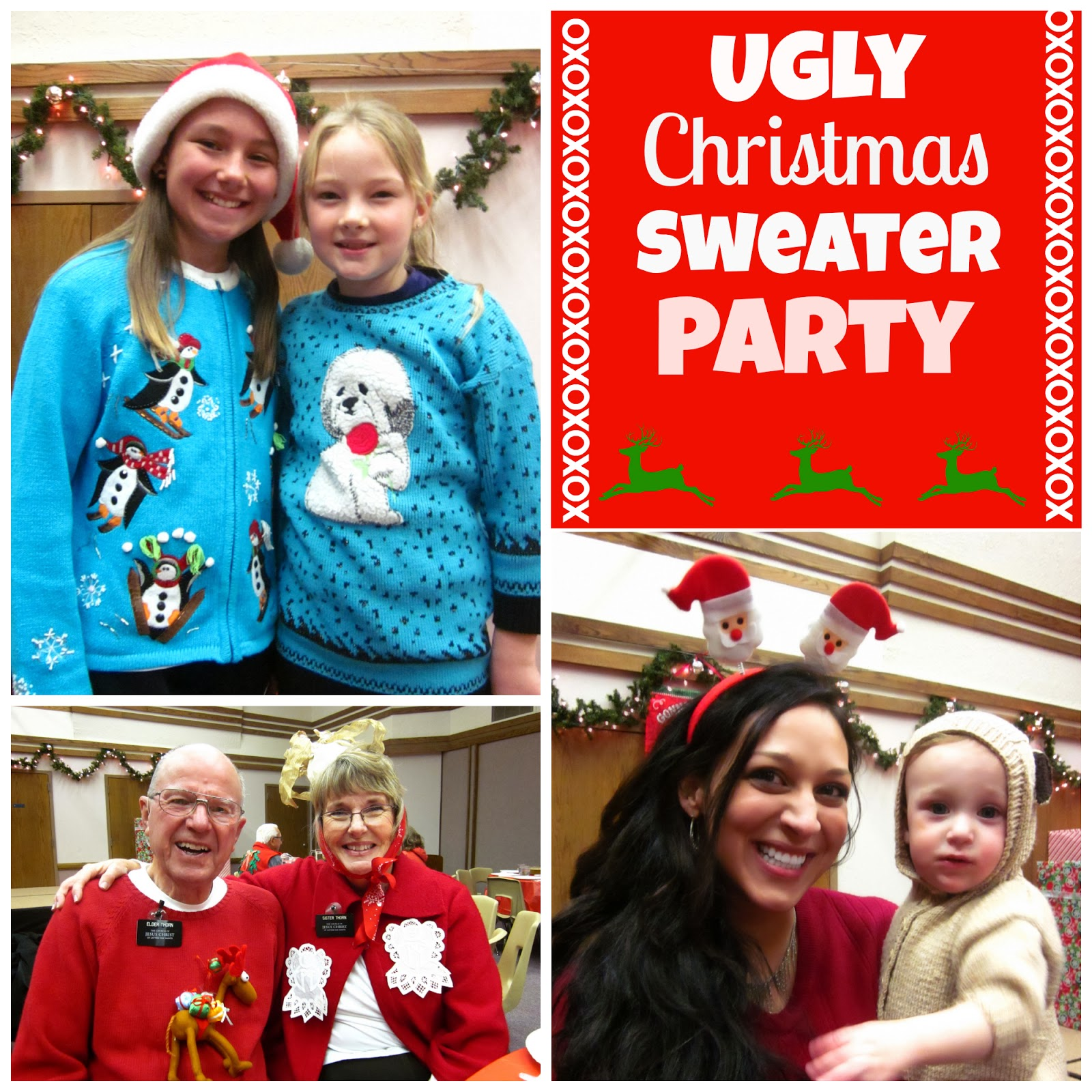 Ugly Christmas Party Sweaters: Honey I'm Home: Ugly Christmas Sweater Party Fun