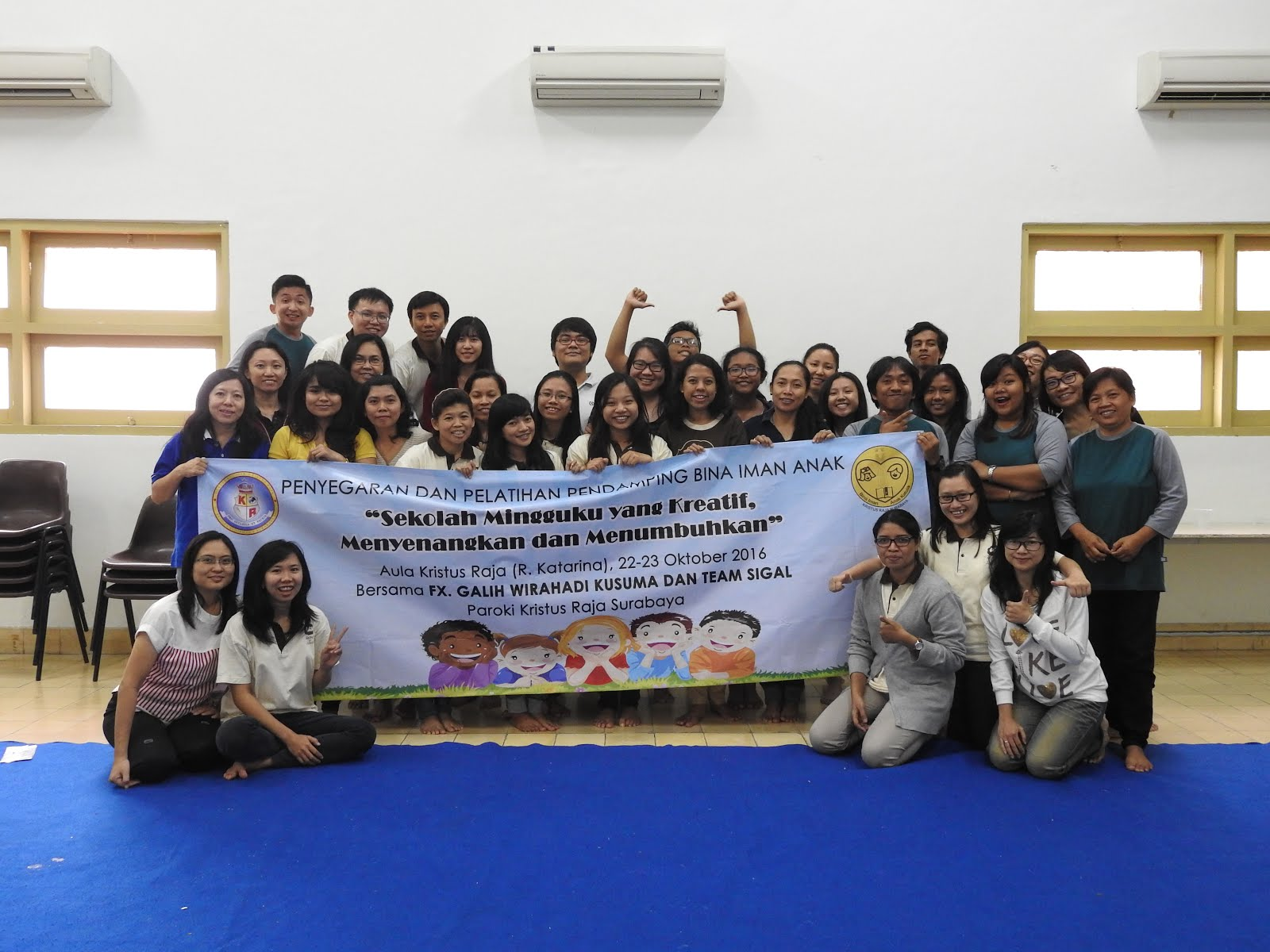 Bersama pendamping BIAK Paroki Kristus Raja Surabaya (22-23 Oktober 2016)