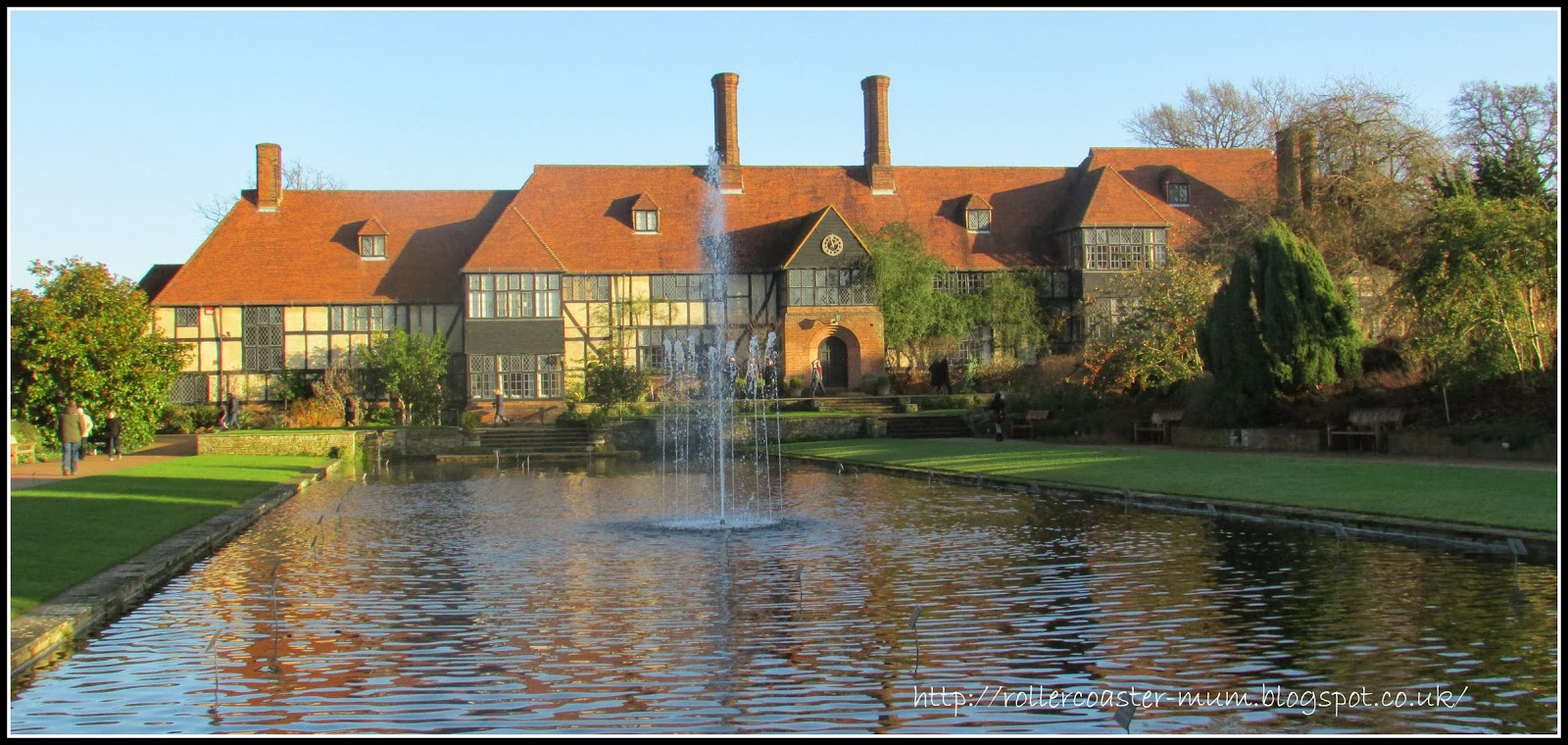 house and canal at RHS Wisley