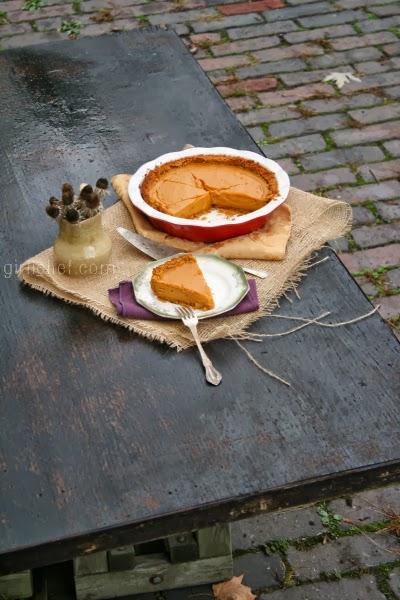 Coconut Sweet Potato Pie w/ Spiced Graham Cracker Crust   www.girlichef.com
