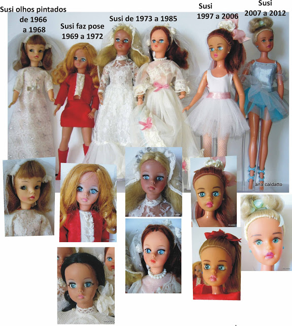 Como Diferenciar a Boneca Susi de 1966 a 2016