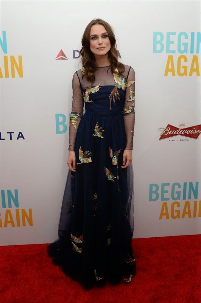 Keira Knightley wearing Valentino – 'Begin Again' New York Premiere