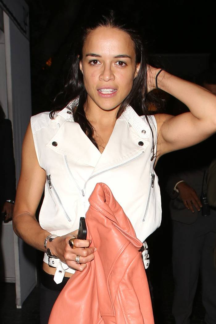 Michelle Rodriguez Leaves Chateau Marmont in LA