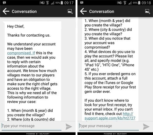 how to get back old coc account