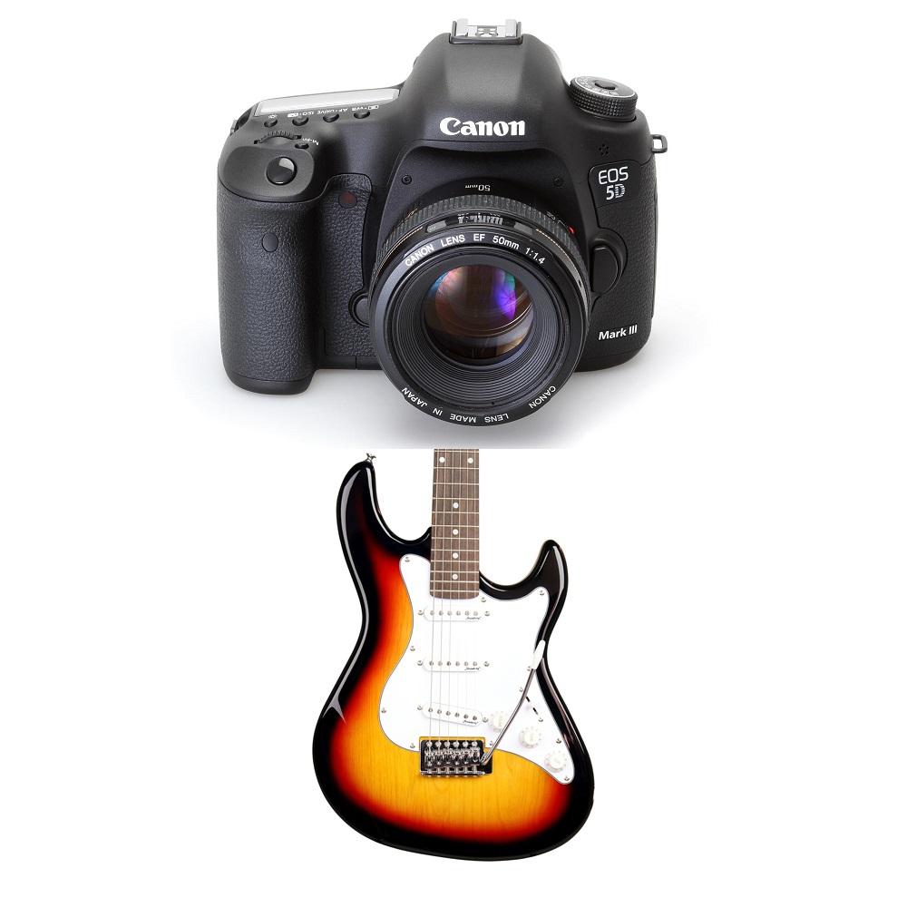 loja - instrumentos musicais e câmeras