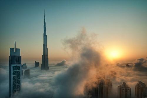 Niebla espesa en Dubai