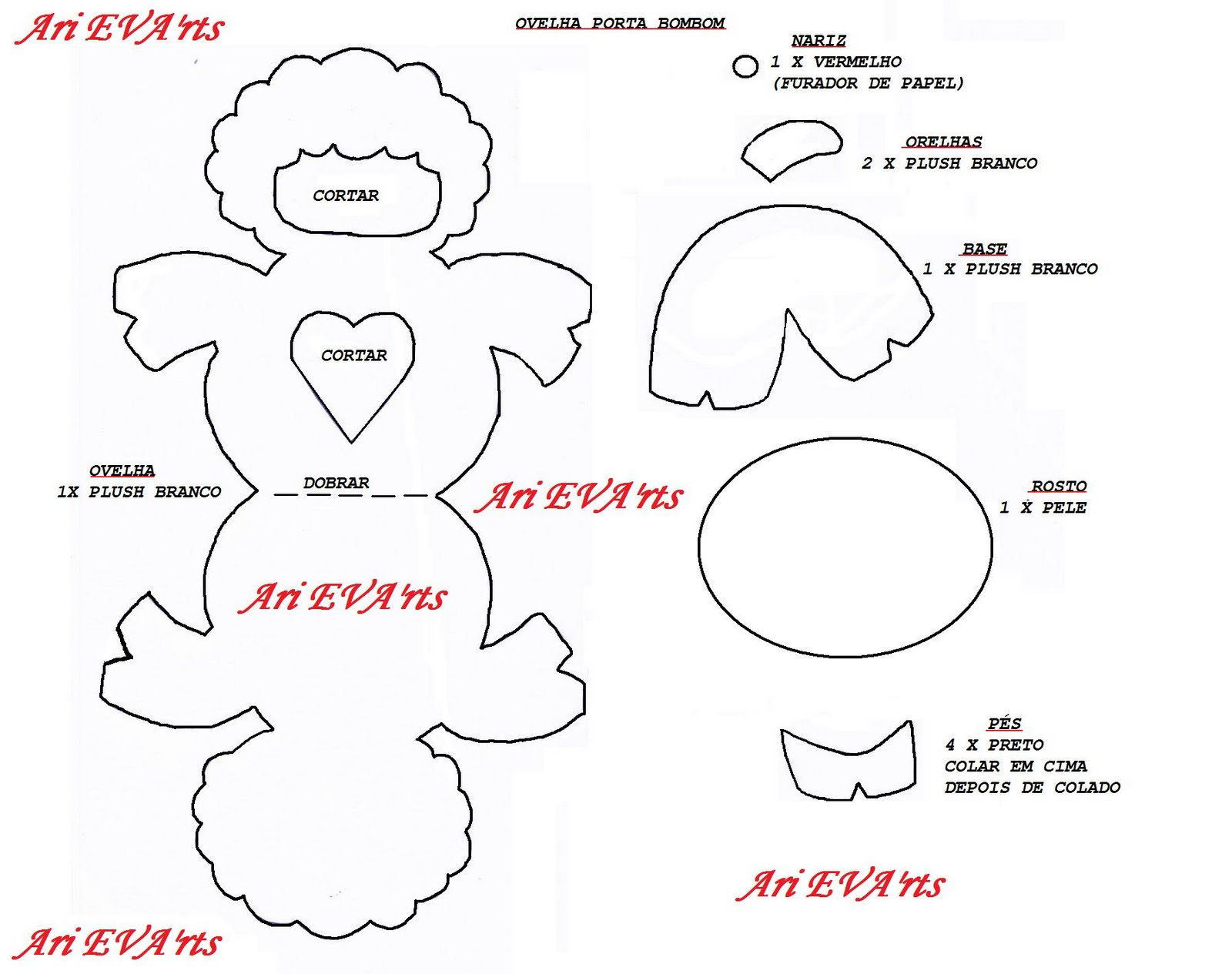 Well-known Ari EVA 'rts: Molde - Ovelhinha Porta Bombom QI54