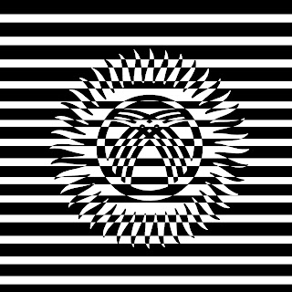 Black and white Kygyzstan flag.