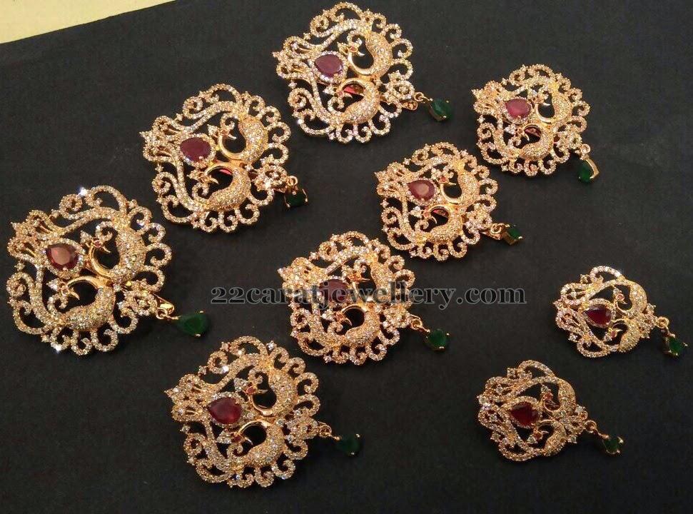 1 Gram Gold Jada Billalu Or Choti Jewellery Designs