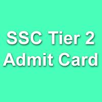 SSC CGL Tier 2 Exam Admit Card 2015