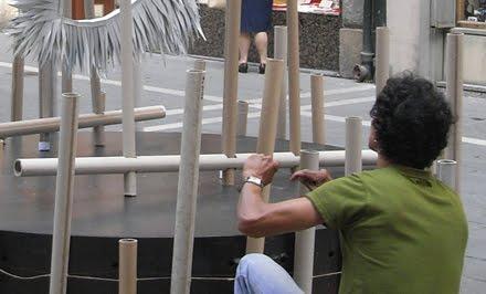 Performance escultórica: S.O.S. tenible