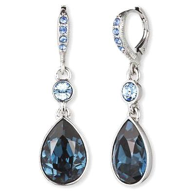 Givenchy Blue Teardrop Earrings