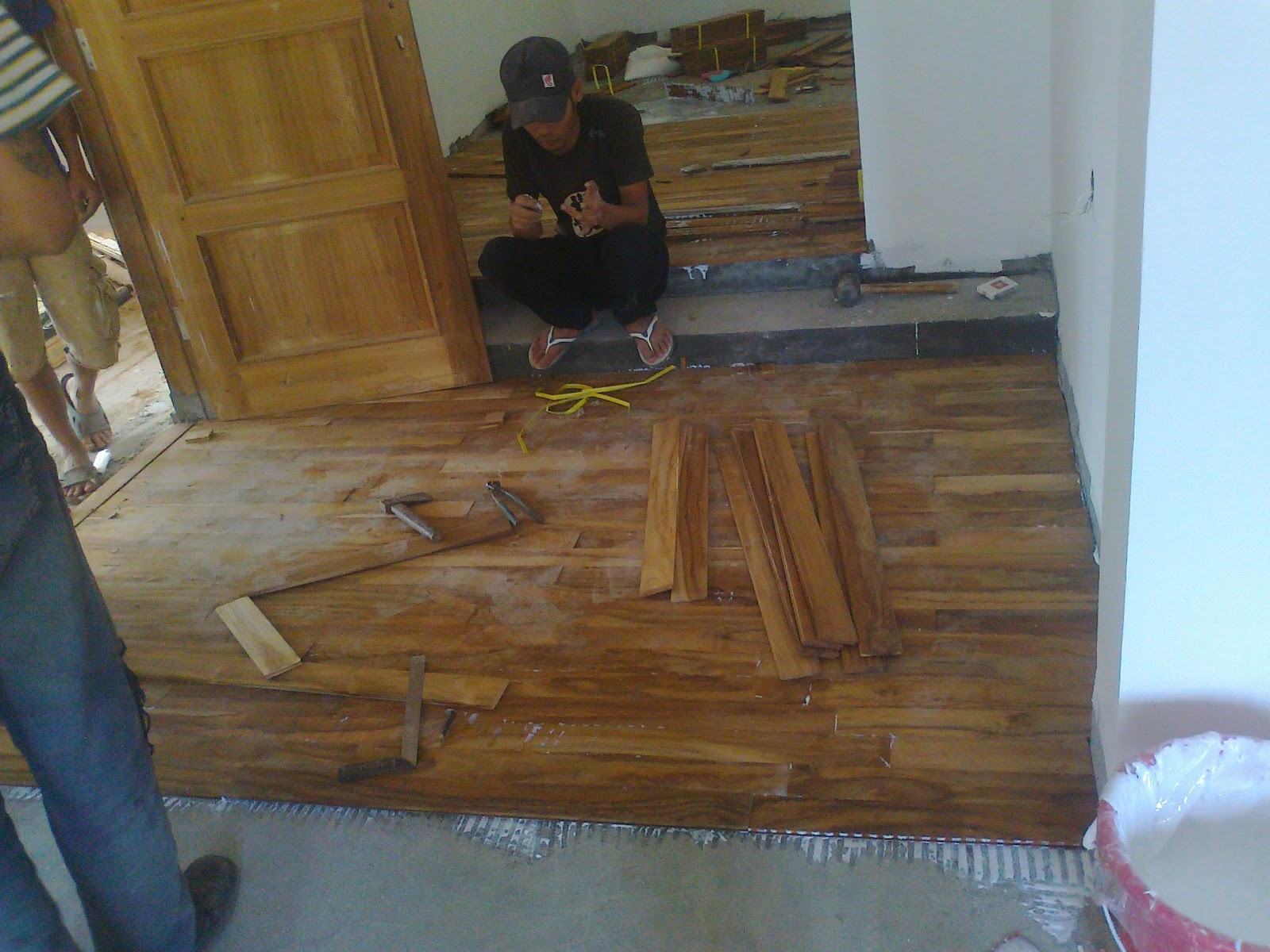 lantai kayu jati type mini flooring