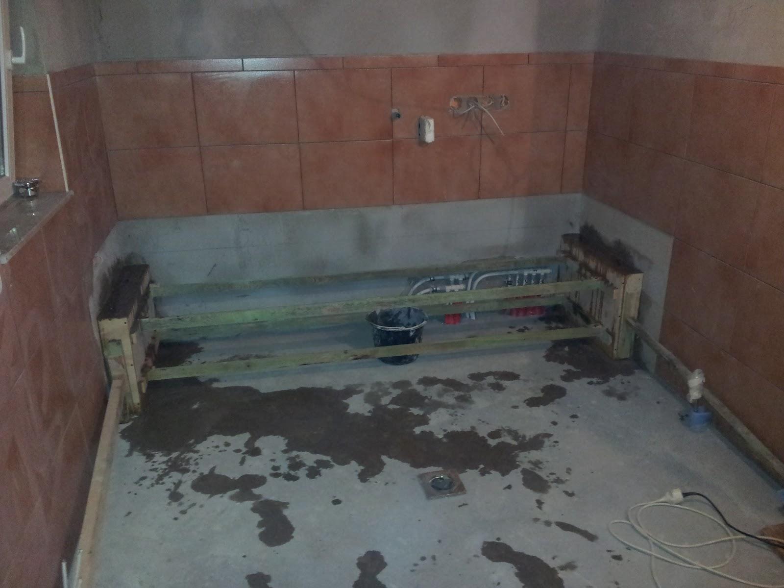 unser traum pro haus waschraum gefliest. Black Bedroom Furniture Sets. Home Design Ideas