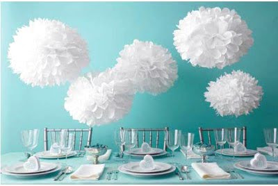 tissue paper wedding decorations