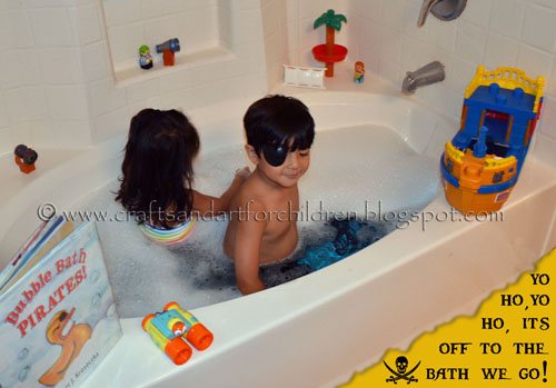 Pirate Bubble Bath Activity & Book for kids
