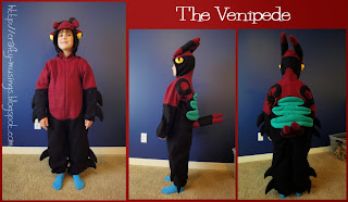 Venipede front, side, and back views collage