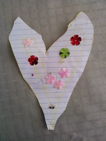 paper heart with stickers